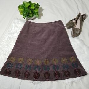 Boden Corduroy A-line Skirt Size 12